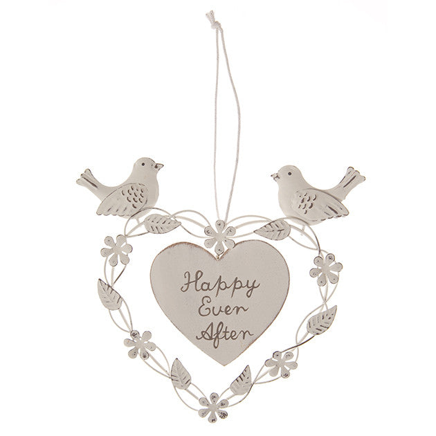 Happy Ever After Heart with Doves Decoration - Fifth Corner & BlueBird