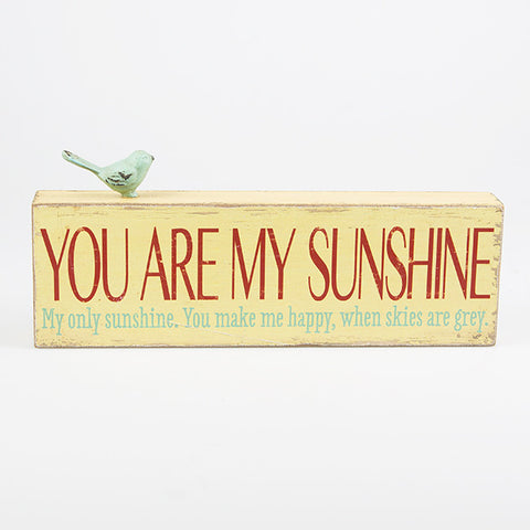 You Are My Sunshine - Yellow Block