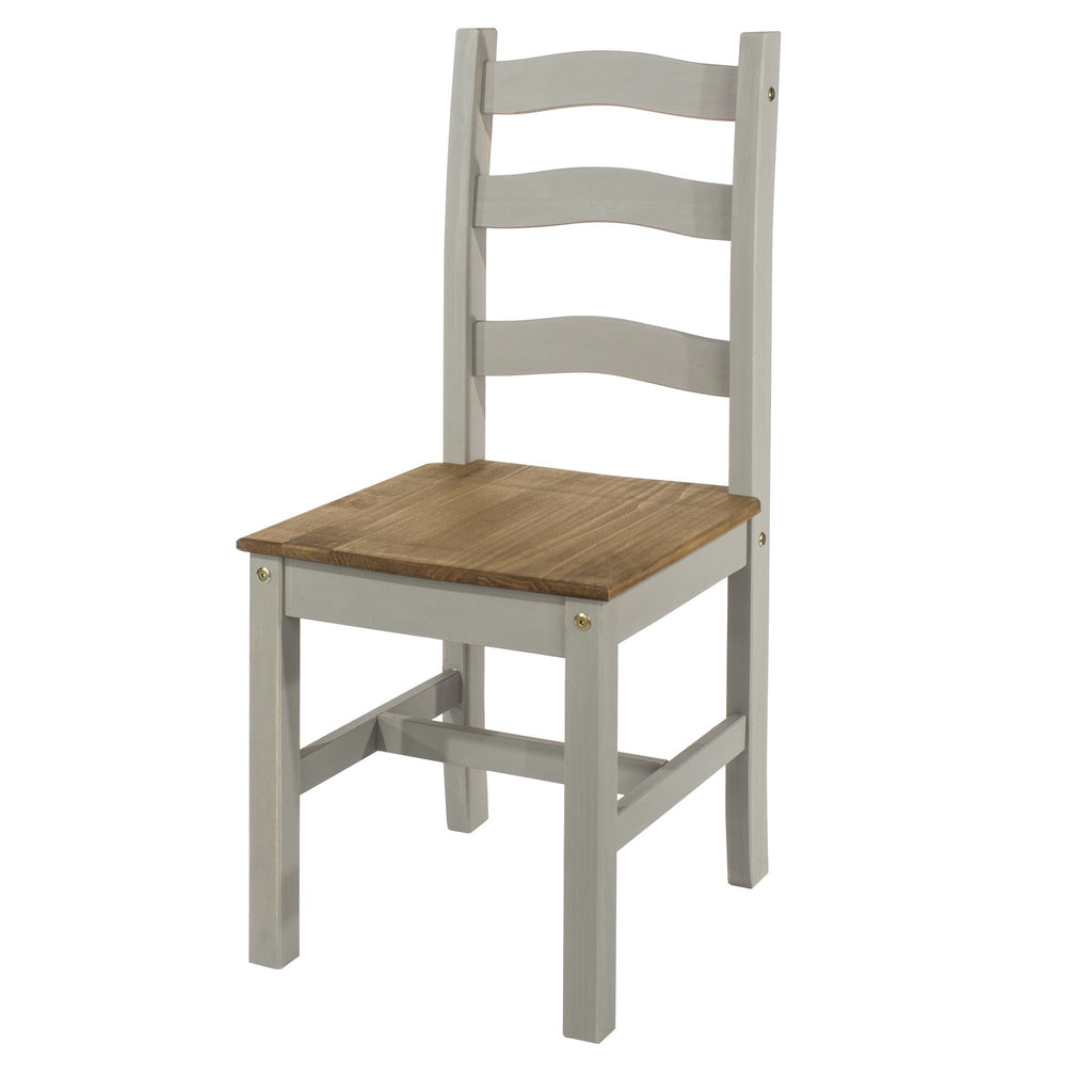 Dining Chair Grey Washed Pine