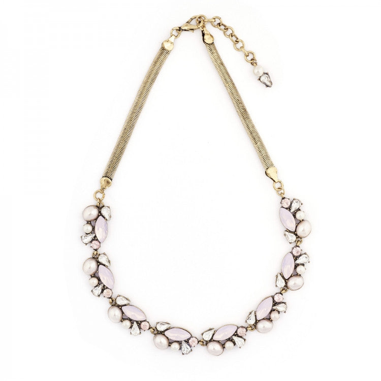 Crystal Cluster Necklace Rosewater Opal - Fifth Corner & BlueBird - 1