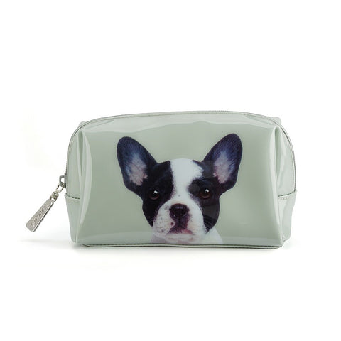 Dog on Stone Beauty Bag
