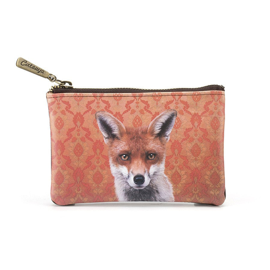 Fox Flat Bag Zip Purse - Fifth Corner & BlueBird