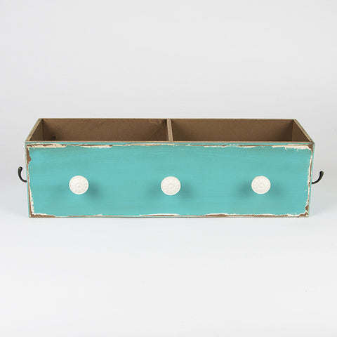 Victorian Style Blue Double Drawer with Hooks
