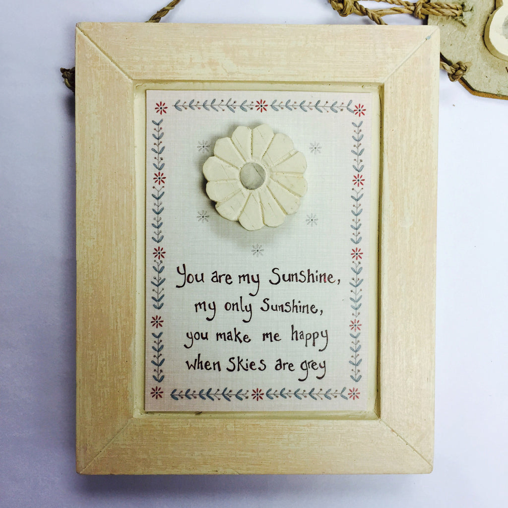 You Are My Sunshine - Wooden Picture Plaque - Fifth Corner & BlueBird - 1