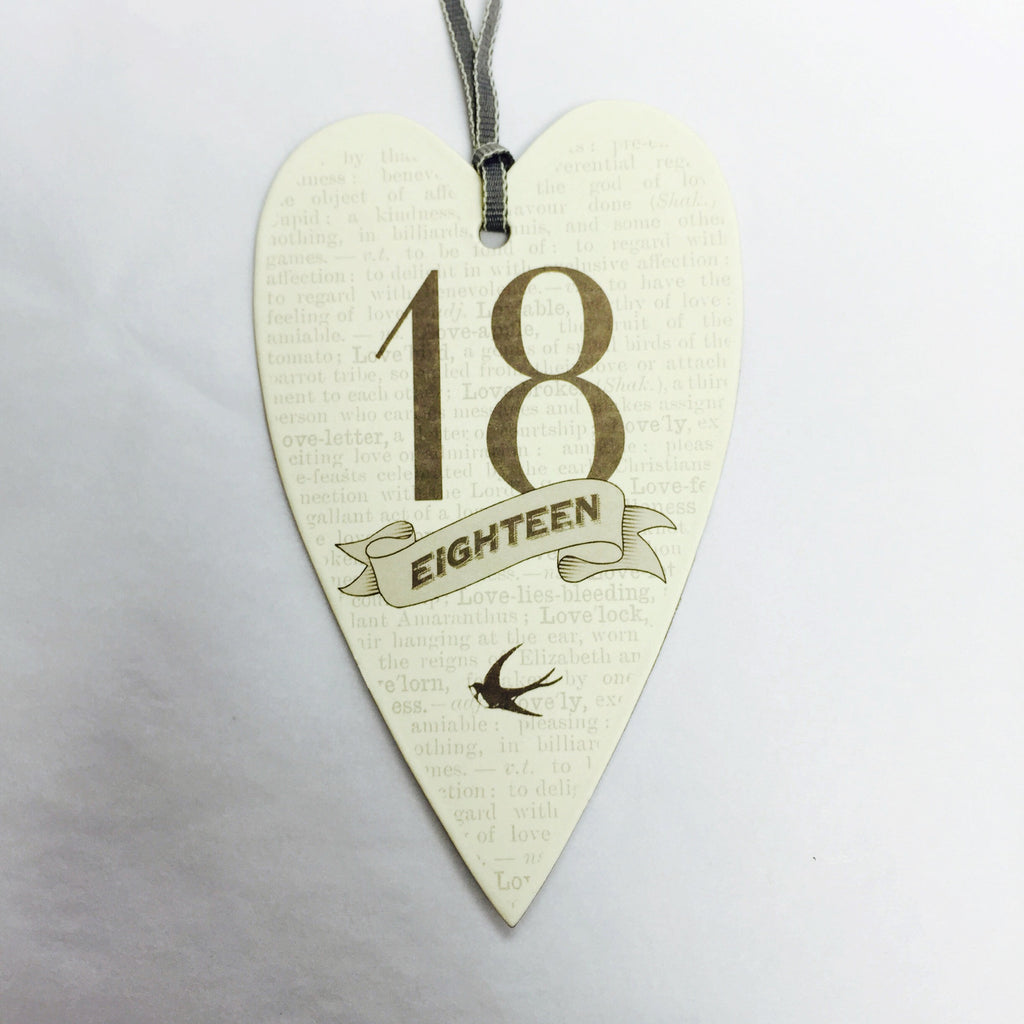 Lost For Words Ages Birthday Gift Tag - Fifth Corner & BlueBird - 1