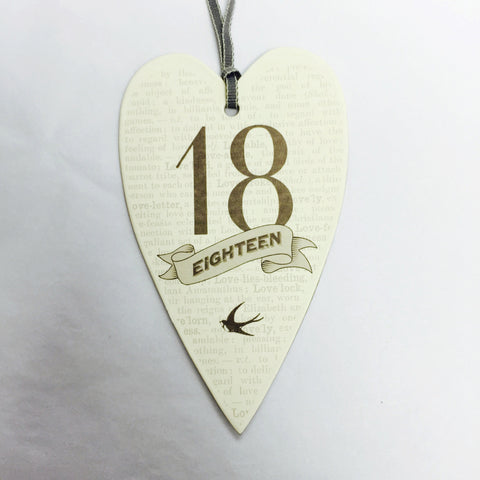 Lost For Words Ages Birthday Gift Tag