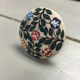 Drawer knobs, large green leaf & flowers - Fifth Corner & BlueBird - 1