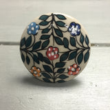 Drawer knobs, large green leaf & flowers - Fifth Corner & BlueBird - 2
