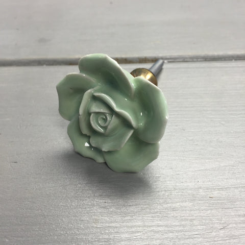 Drawer knobs, green rose