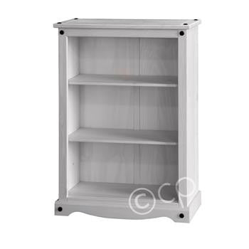 White Washed Low Bookcase