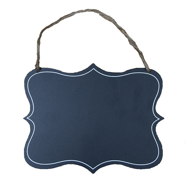 Hanging Chalkboard - Fancy Rectangular - Fifth Corner & BlueBird