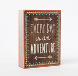 Everyday Is An Adventure Tribal Box Frame Plaque - Fifth Corner & BlueBird - 1