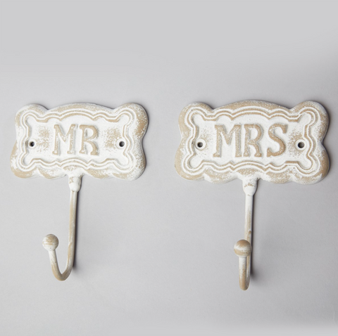 Mr & Mrs Vintage Single Hook