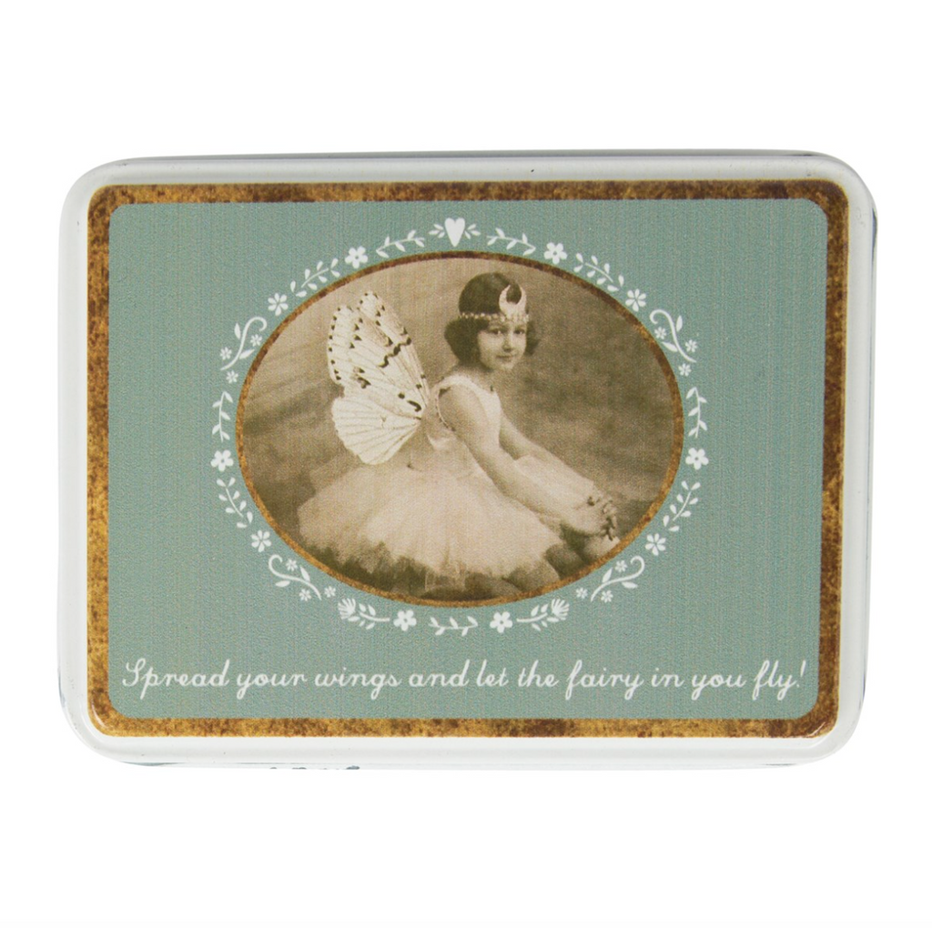 Spread Your Wings Vintage Fairies Tin - Fifth Corner & BlueBird