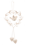 Vintage hanging heart, bird & leaves - Fifth Corner & BlueBird - 2