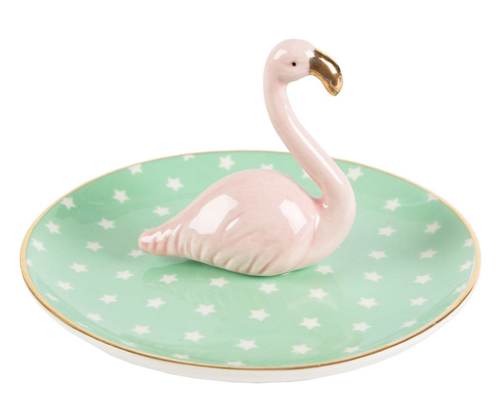 Tropical Flamingo Jewellery Dish - Fifth Corner & BlueBird - 1