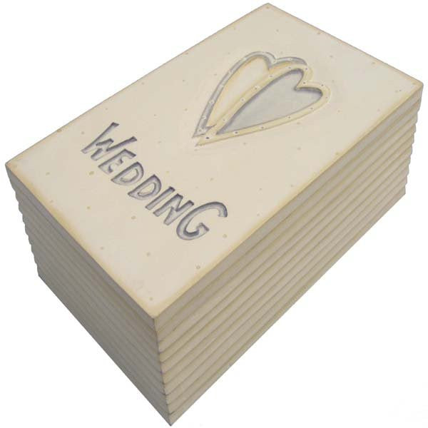 Wedding Keepsake Box - Long Cream Design - Fifth Corner & BlueBird