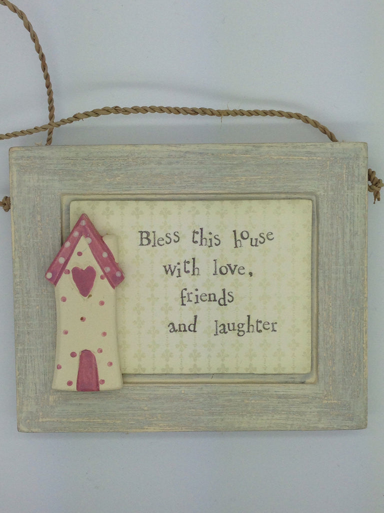 Bless This House Wooden Sign - Fifth Corner & BlueBird