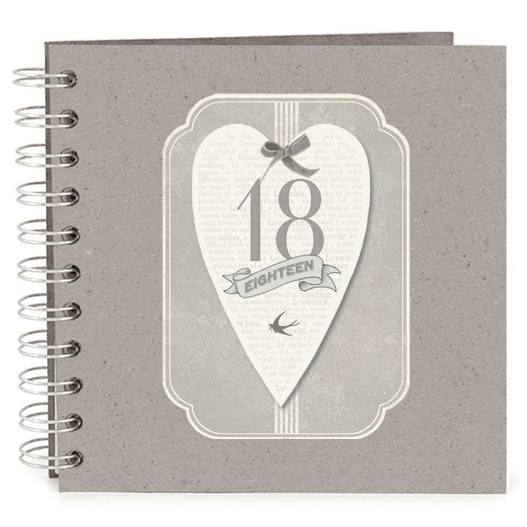 Heart Tag Design Scrapbook Photo Album - Birthdays - Fifth Corner & BlueBird - 1