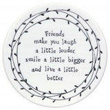 Porcelain Leaf Coasters  - assorted sayings - Fifth Corner & BlueBird - 2