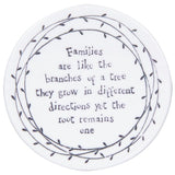 Porcelain Leaf Coasters  - assorted sayings - Fifth Corner & BlueBird - 4