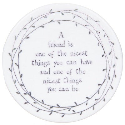 Porcelain Leaf Coasters  - assorted sayings - Fifth Corner & BlueBird - 7