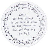Porcelain Leaf Coasters  - assorted sayings - Fifth Corner & BlueBird - 1