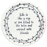 Porcelain Leaf Coasters  - assorted sayings - Fifth Corner & BlueBird - 5