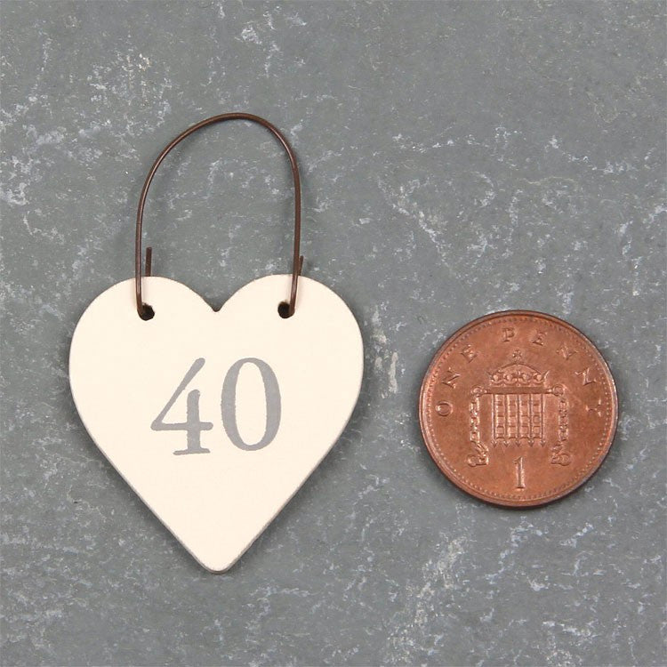 Mini Wooden Heart 40 - Fifth Corner & BlueBird