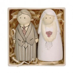 Wooden Bride & Groom Boxed - Fifth Corner & BlueBird