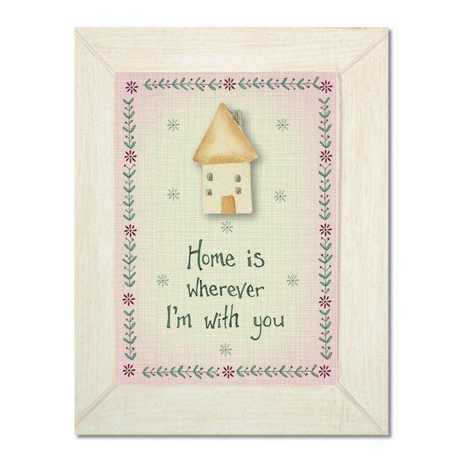 Home Is Wherever I Am With You - Hanging Plaque - Fifth Corner & BlueBird