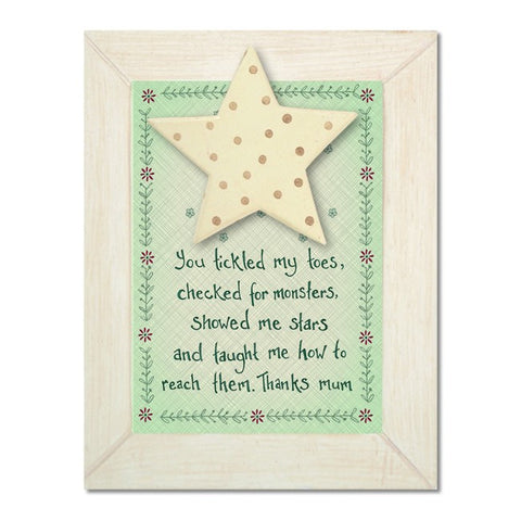 You Tickled My Toes, Thanks Mum - Hanging Plaque