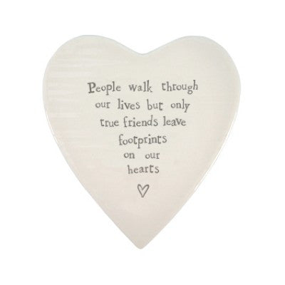 Porcelain Heart Coaster - People Walk Through.. - Fifth Corner & BlueBird