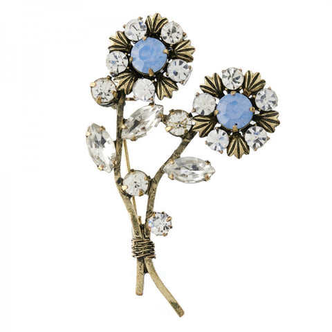 Double Flower Brooch Pin