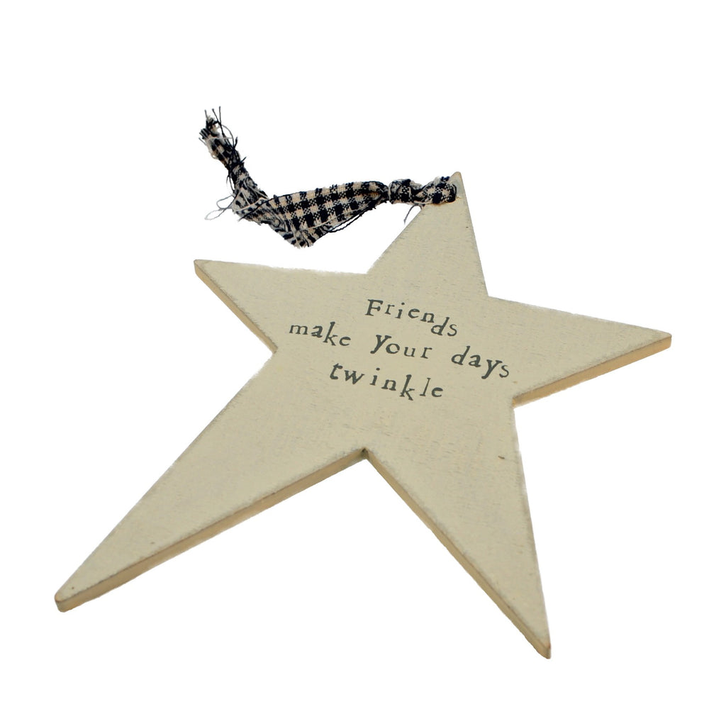 Friends Make Your Day Twinkle - Star Shape Sign - Fifth Corner & BlueBird