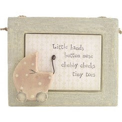 Little Hands Button Nose - Baby Plaque - Fifth Corner & BlueBird