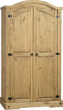 Rustic 2 Door Wardrobe - Furniture - Fifth Corner & BlueBird - 1