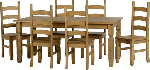 Rustic 6' Dining Set - Furniture