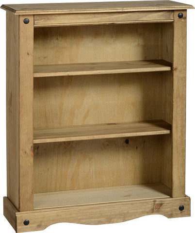 Rustic Low Bookcase  - Furniture