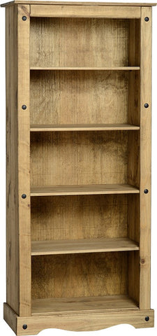 Rustic Tall Bookcase - Furniture