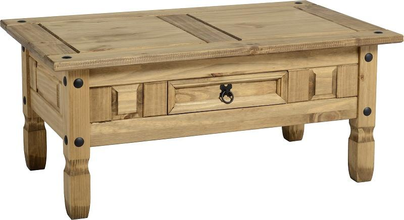 Rustic 1 Drawer Coffee Table - Furniture - Fifth Corner & BlueBird - 1