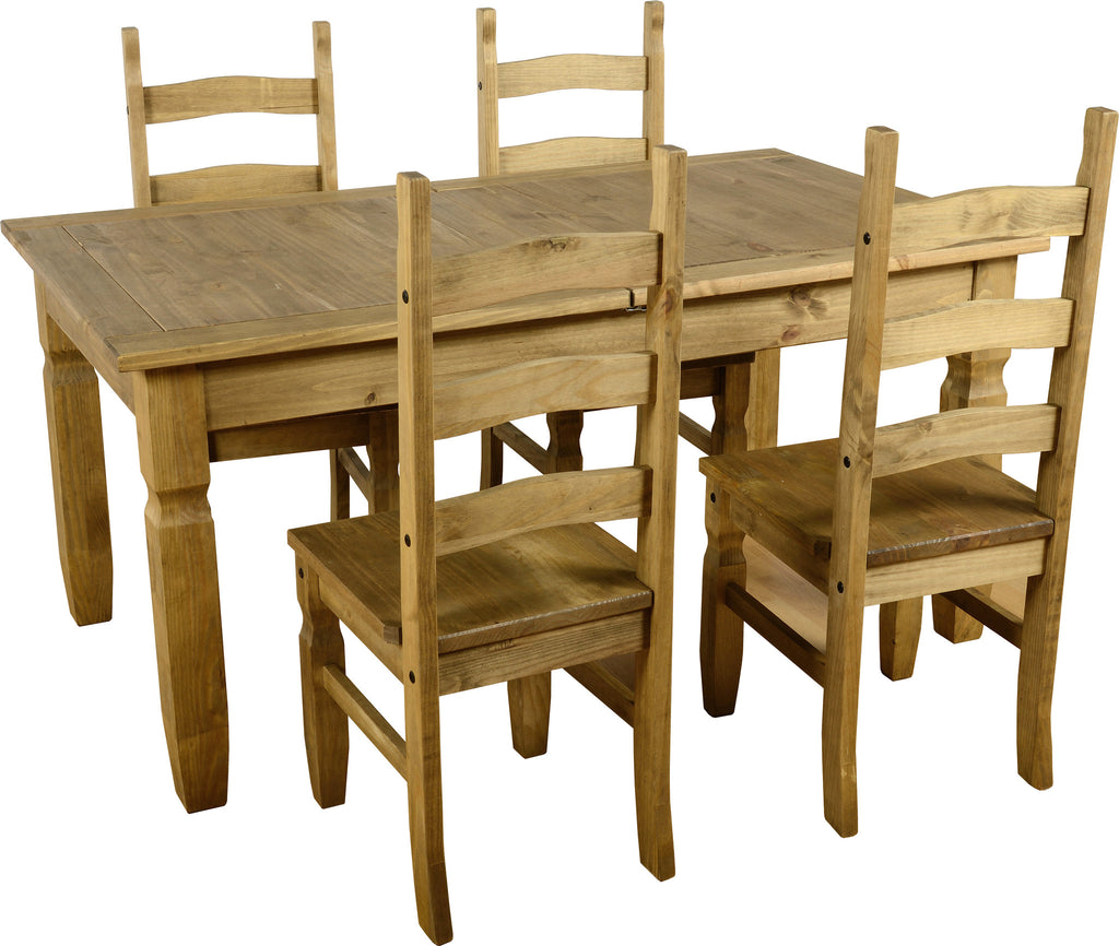 Rustic Extending Dining Set - Furniture - Fifth Corner & BlueBird - 1
