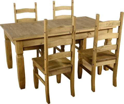 Rustic Extending Dining Set - Furniture