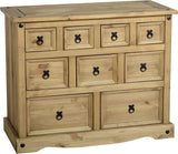 Rustic 4+3+2 Drawer Merchant Chest - Furniture - Fifth Corner & BlueBird - 1