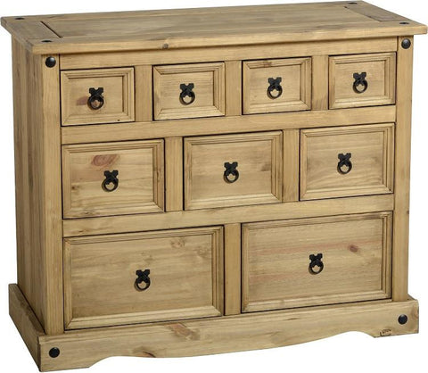 Rustic 4+3+2 Drawer Merchant Chest - Furniture