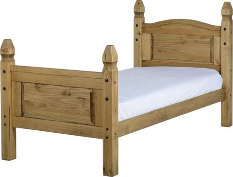 Rustic 3' Bed High Foot End - Furniture
