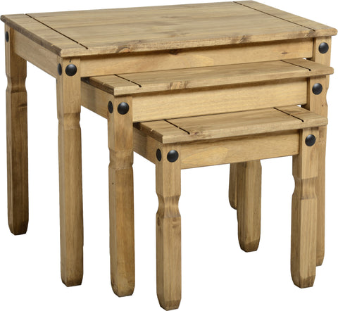 Rustic Nest Of Tables - Furniture