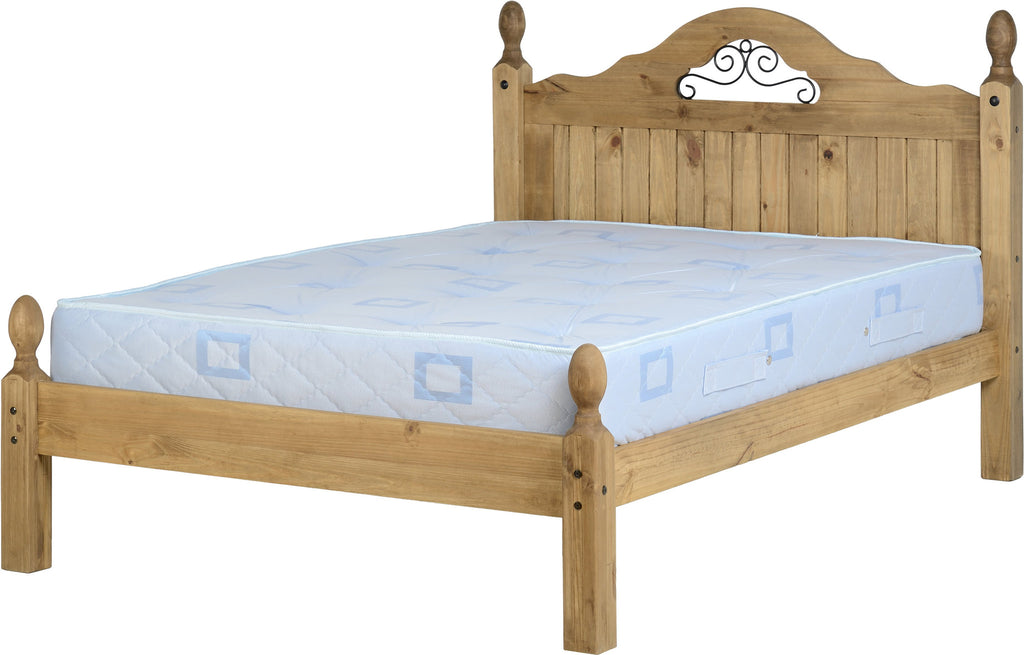 "Rustic Scroll 4'6"" Bed Low Foot End - Furniture - Fifth Corner & BlueBird - 1"