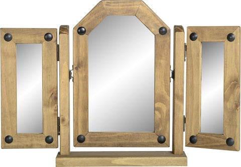 Rustic Triple Swivel Mirror - Furniture
