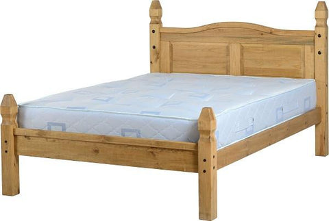 "Rustic 4'6"" Bed Low End - Furniture"